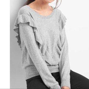 Chic Gap Grey Ruffle Sweater (S)